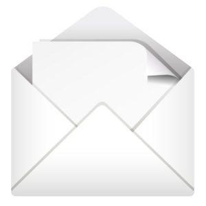Lettre, enveloppe, communication écrite